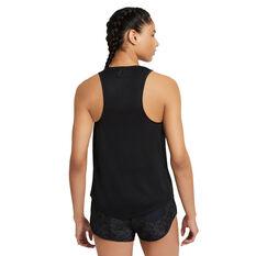Nike Womens Miler Running Tank Black XS, Black, rebel_hi-res
