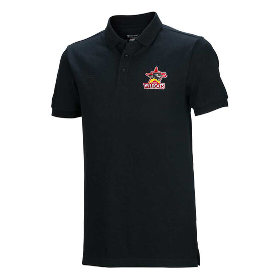 Perth Wildcats 2019/20 Mens Lifestyle Polo Black S, Black, rebel_hi-res