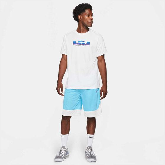 Nike Mens Dri-FIT LeBron Logo Basketball Tee, White, rebel_hi-res