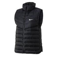 Nike Womens Lightweight Down Windrunner Vest Black XS, Black, rebel_hi-res