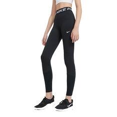 Nike Pro Girls Tights Black XS, Black, rebel_hi-res