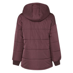 L'urv Womens Arctic Blast Puffer Jacket Purple XS, Purple, rebel_hi-res