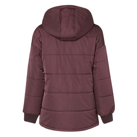L'urv Womens Arctic Blast Puffer Jacket Purple S, Purple, rebel_hi-res