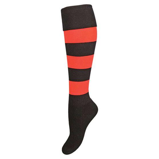 Burley Essendon Bombers Kids Football Socks, , rebel_hi-res