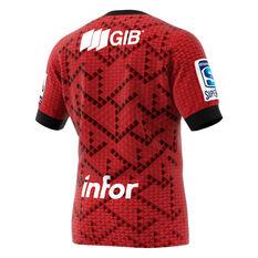 Crusaders 2020 Mens Home Jersey Red / Black M, Red / Black, rebel_hi-res