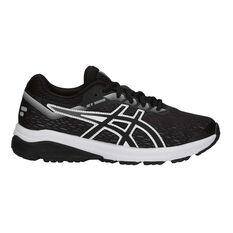 Asics GT 1000 7 Boys Running Shoes Black / White US 4, Black / White, rebel_hi-res