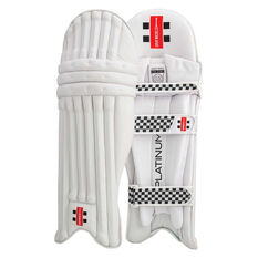 Gray Nicolls Platinum Cricket Batting Pads White / Silver Right Hand, White / Silver, rebel_hi-res