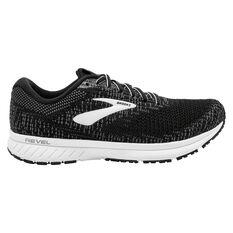 Brooks Revel 3 Womens Running Shoes Black / White US 6.5, Black / White, rebel_hi-res