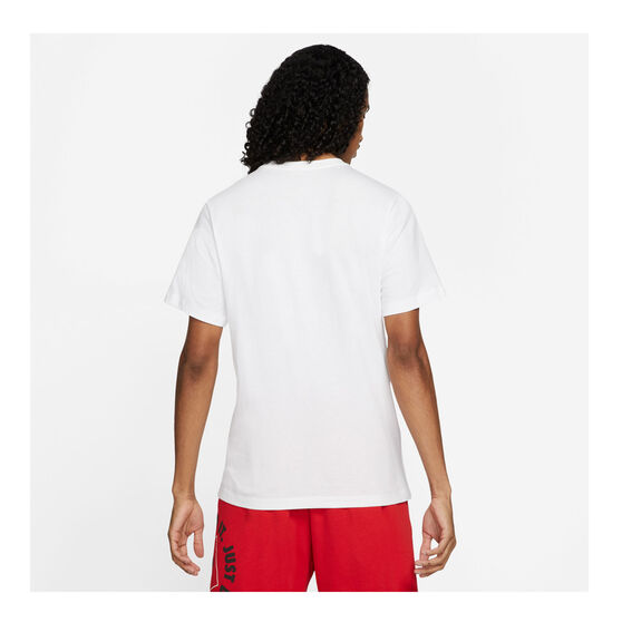 Nike Mens Sportswear Just Do It LBR Tee, White, rebel_hi-res