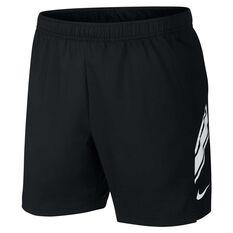 Nike Mens Dri FIT 7in Shorts Black XS, Black, rebel_hi-res