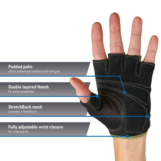 Harbinger Power Glove, Green, rebel_hi-res