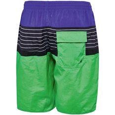 Speedo Mens Multi Split Watershorts Green S, Green, rebel_hi-res