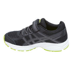 Asics Gel Contend 4 Junior Boys Running Shoes Black / Green 11, Black / Green, rebel_hi-res