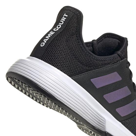 adidas Gamecourt Mens Tennis Shoes, Black/White, rebel_hi-res