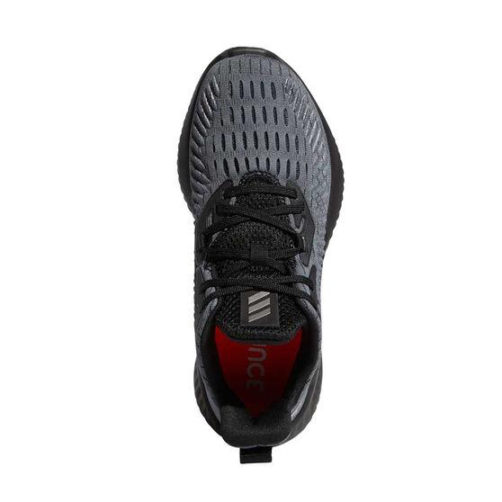 adidas Alphabounce Kids Running Shoes Black US 4, Black, rebel_hi-res