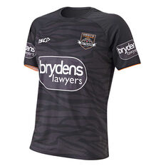 Wests Tigers 2019 Mens Training Tee Black S, Black, rebel_hi-res