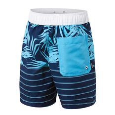 Tahwalhi Boys Outrider Palms Board Shorts Blue / White 8, Blue / White, rebel_hi-res