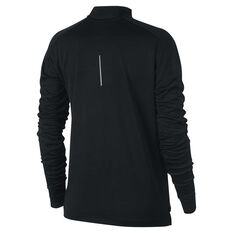 Nike Womens Pacer 1 / 2 Zip Long Sleeve Top Black XS, Black, rebel_hi-res