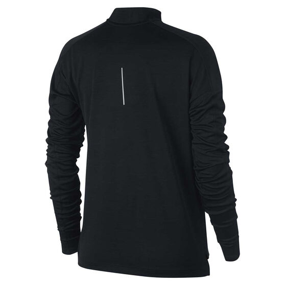 Nike Womens Pacer 1 / 2 Zip Long Sleeve Top, Black, rebel_hi-res