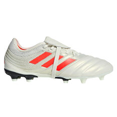 adidas Copa Gloro 19.2 Mens Football Boots White / Red US Mens 7 / Womens 8, White / Red, rebel_hi-res