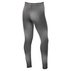 Nike Girls Favourite Graphic Leggings Black / White XS, Black / White, rebel_hi-res