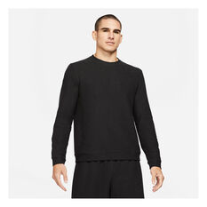 Nike Mens Yoga Crew Black S, Black, rebel_hi-res