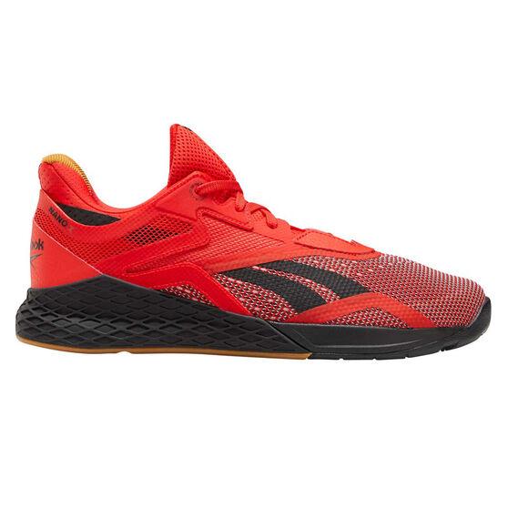 Reebok Nano X Mens Training Shoes, Red / Black, rebel_hi-res