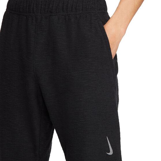 Nike Mens Dri-Fit Fleece Yoga Pants, Black, rebel_hi-res