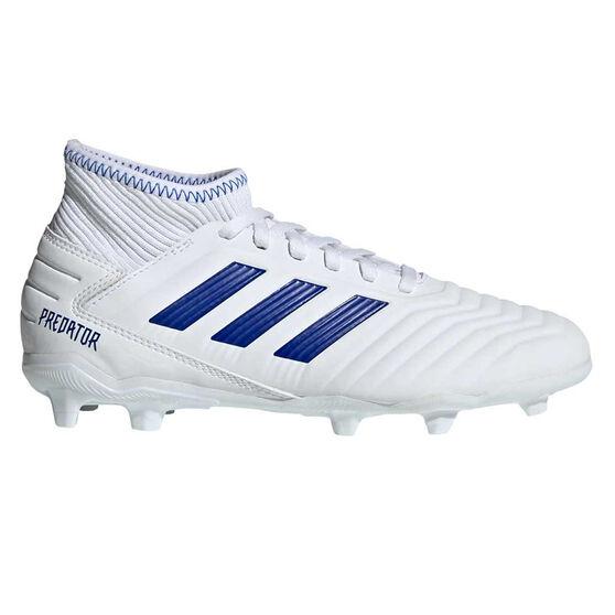 adidas Predator 19.3 Kids Football Boots, White / Blue, rebel_hi-res