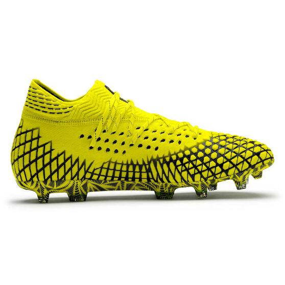 Puma Future 4.1 Netfit Football Boots, Yellow / Black, rebel_hi-res