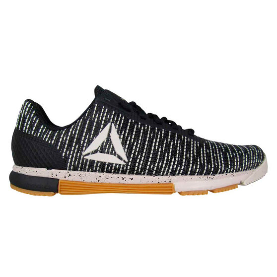 Reebok Speed Trainer Flexweave Womens Training Shoes, Black / White, rebel_hi-res