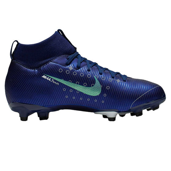 Nike Mercurial Superfly VII Academy MG Kids Football Boots, Blue / Silver, rebel_hi-res