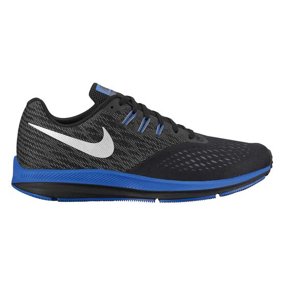low priced 8ac0b 7746d Nike Zoom Winflo 4 Mens Running Shoes Black   Silver US 10.5, Black   Silver