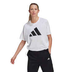 adidas Womens Sportswear Adjustable Badge Of Sport Tee White S, White, rebel_hi-res