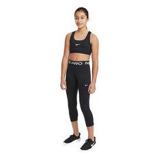 Nike Pro Girls Capri Tights Black XS, Black, rebel_hi-res