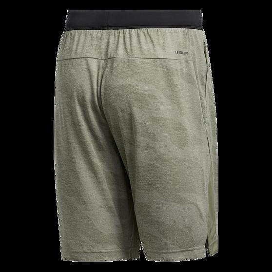 adidas Mens 3 Stripe Knit Shorts Green 2XL, Green, rebel_hi-res