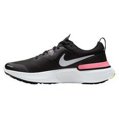 Nike React Miler Womens Running Shoes Black/Silver US 6, Black/Silver, rebel_hi-res