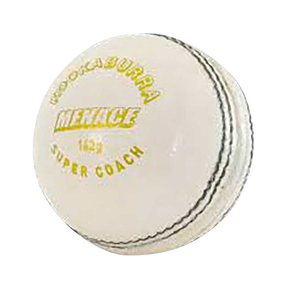 Kookaburra Menace 142g Cricket Ball White, White, rebel_hi-res