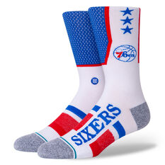 Stance Philadelphia 76ers 2020 Shortcut 2 Socks Multi M, Multi, rebel_hi-res