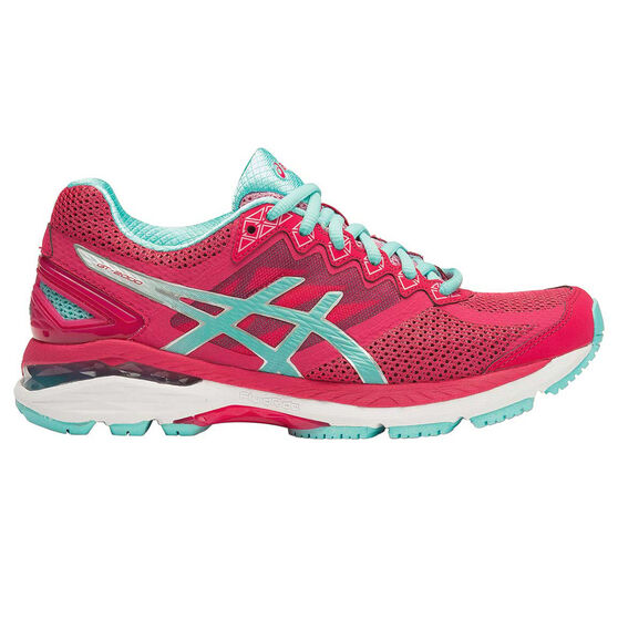 ba63fcf32fa2 Asics GT 2000 4 D Womens Running Shoes Pink   Blue US 6