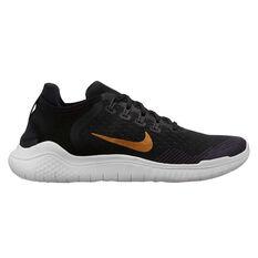 Nike Free RN 2018 Womens Running Shoes Black / Gold US 6, Black / Gold, rebel_hi-res