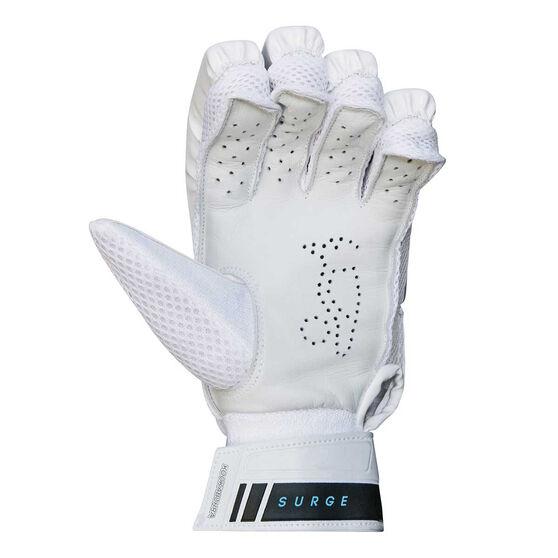 Kookaburra Surge Fury Junior Cricket Batting Gloves White / Teal Small Adult Right Hand, White / Teal, rebel_hi-res