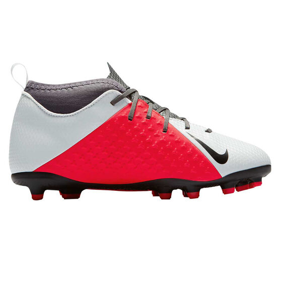 Nike Phantom Vision Club Junior Football Boots Grey / Black US 6, Grey / Black, rebel_hi-res