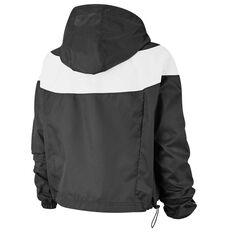 Nike Womens Sportswear Heritage Jacket Black XS, Black, rebel_hi-res