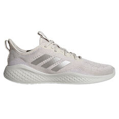 adidas Fluidflow Womens Casual Shoes White/Silver US 6, White/Silver, rebel_hi-res