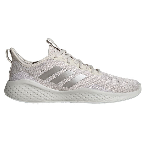 adidas Fluidflow Womens Casual Shoes, White/Silver, rebel_hi-res