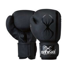 Sting Armaplus Boxing Glove Black 12oz, Black, rebel_hi-res