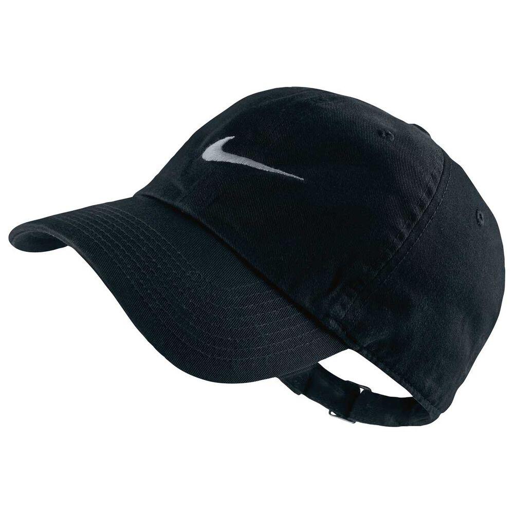 cfa0bf6561d72 Nike Mens Heritage 86 Swoosh Cap Black   Grey OSFA