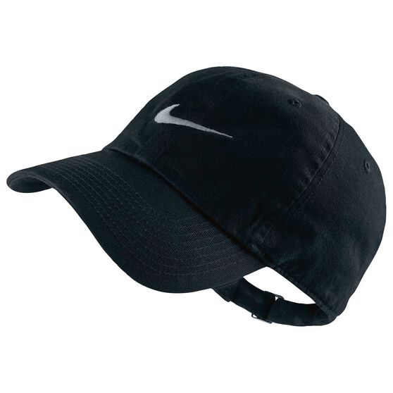 99f1506b72ce Nike Mens Heritage 86 Swoosh Cap Black   Grey OSFA