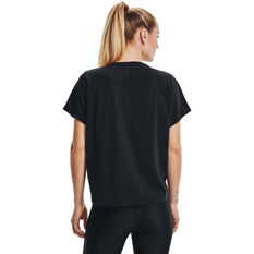 Under Armour Womens Project Rock BSR Tee, Black, rebel_hi-res